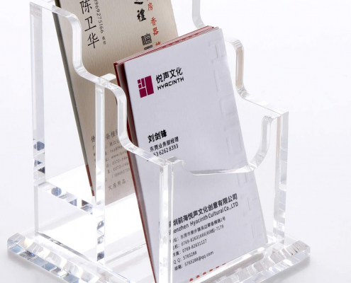 Acrylic Business Card Holder With Base-6