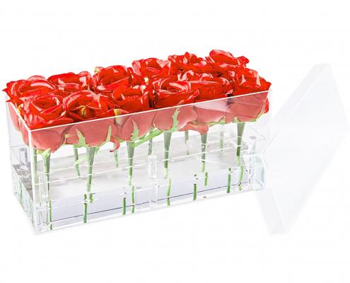 Acrylic Square Flower Vase Case