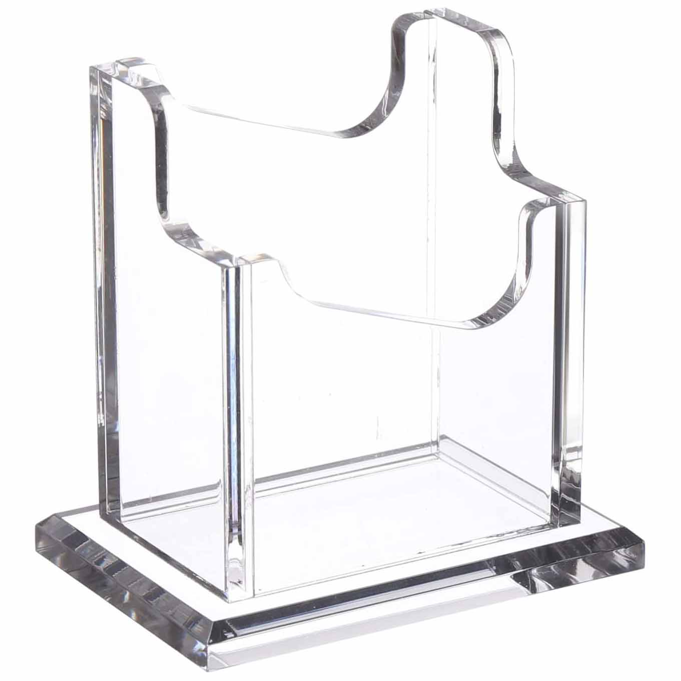 Acrylic Business Card Holder With Base