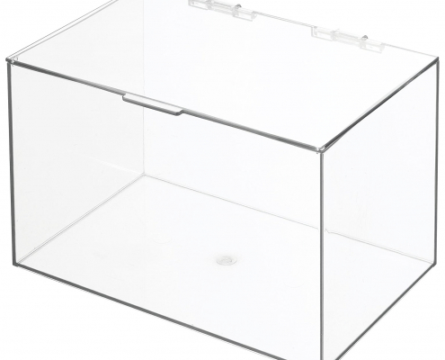 """Acrylic Storage Container Box with Lid - 11"""" × 7"""" × 6.5""""-1"""