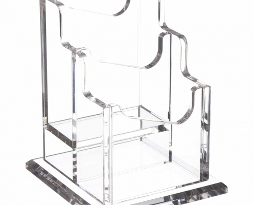 Acrylic Business Card Holder With Base-3