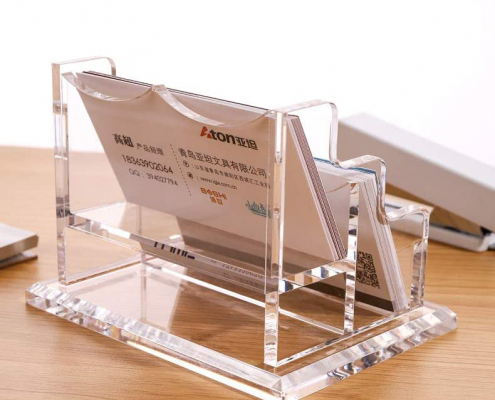 Clear Business Card Display Stand-3