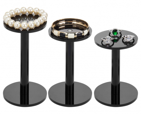 Acrylic Jewelry & Watch Display Pedestal Stands-1