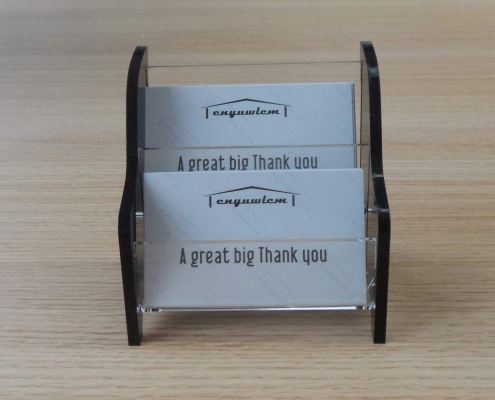 2 Tier Acrylic Business Card Holder For Office Counter-2