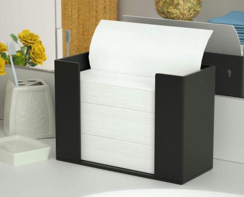 Acrylic Paper Towel Dispenser For Countertop - Black-1