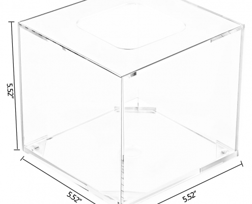 Clear Acrylic Square Napkin Organizer for Bathroom & Living Room-size