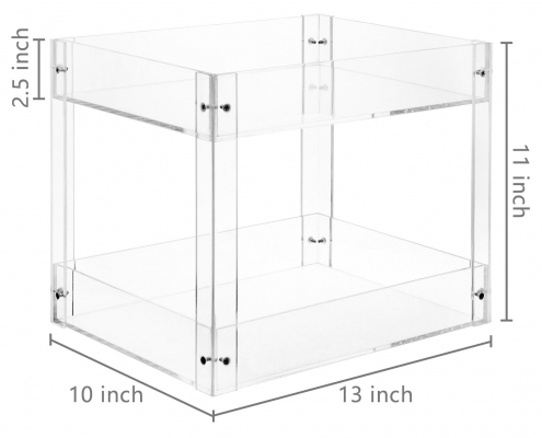 2-Tier Clear Acrylic Desktop Document Holder Stand-2