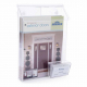 Acrylic Wall Mount Literature Rack With Business Card Holder
