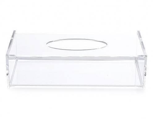 Acrylic Facial Tissue Dispenser Box - 10 × 2.4 × 4.9 inch-1