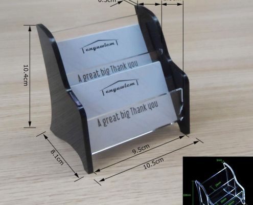 2 Tier Acrylic Business Card Holder For Office Counter-size