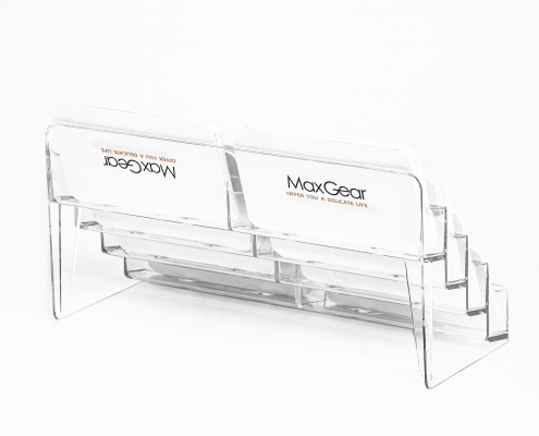 Acrylic Business Card Holders With Multiple Pockets-1