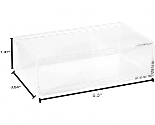 Clear Lucite Rectangular Storage Box-2