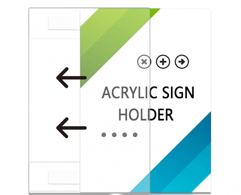 Wall Mount Horizontal Acrylic Sign Holder with 3M Tape Adhesive-3