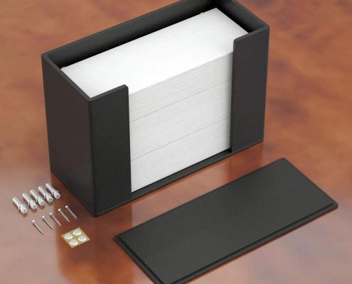 Acrylic Paper Towel Dispenser For Countertop - Black-3