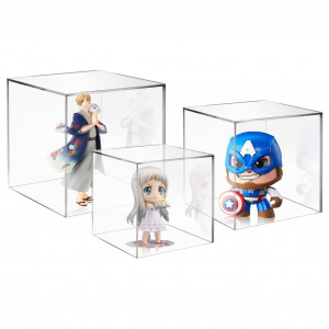 5 Sided Desktop Acrylic Display Boxes