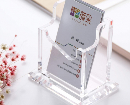 Acrylic Business Card Holder With Base-4