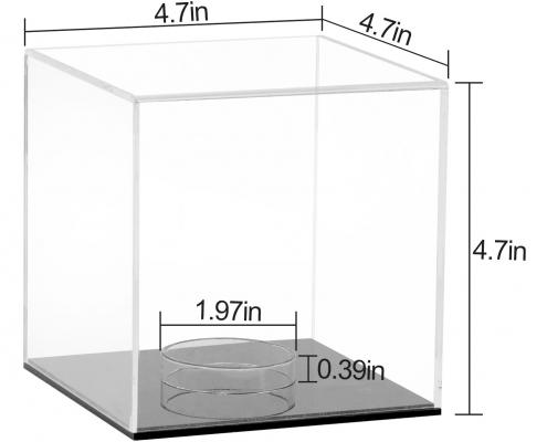 Small Acrylic Cube Softball Display Case - 12 x 12 x 12 cm-size