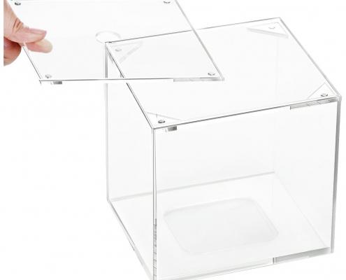 Clear Acrylic Square Napkin Organizer for Bathroom & Living Room-3