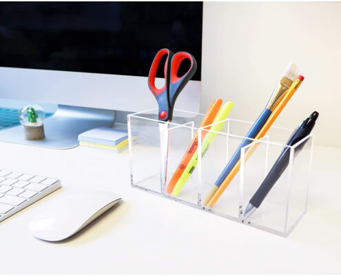 4 Compartment Clear Acrylic Organizer