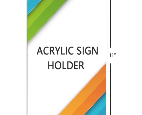 Wall Mount Horizontal Acrylic Sign Holder with 3M Tape Adhesive-2