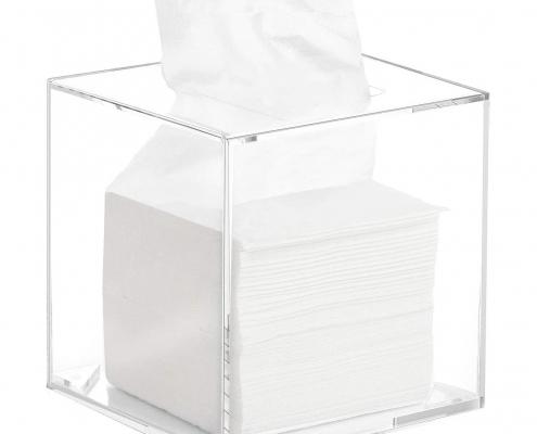 Clear Acrylic Square Napkin Organizer for Bathroom & Living Room-2