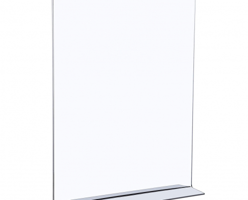 Acrylic T-Shaped Sign Holders-1
