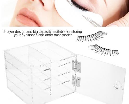 Clear Acrylic Eyelash Display Case - 4 Layer-2