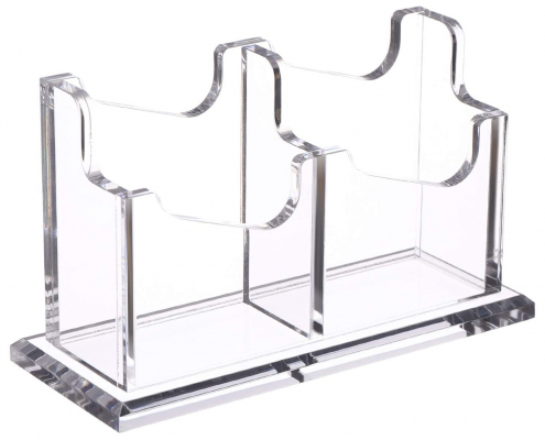 Acrylic Business Card Holder With Base-2