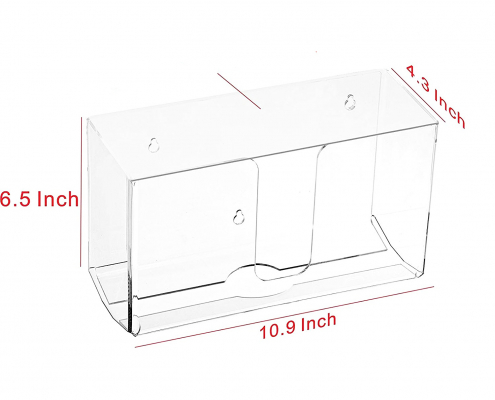 Wall Mount Acrylic Paper Dispenser With Lid-size