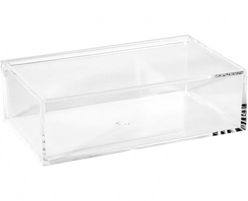 Clear Lucite Rectangular Storage Box