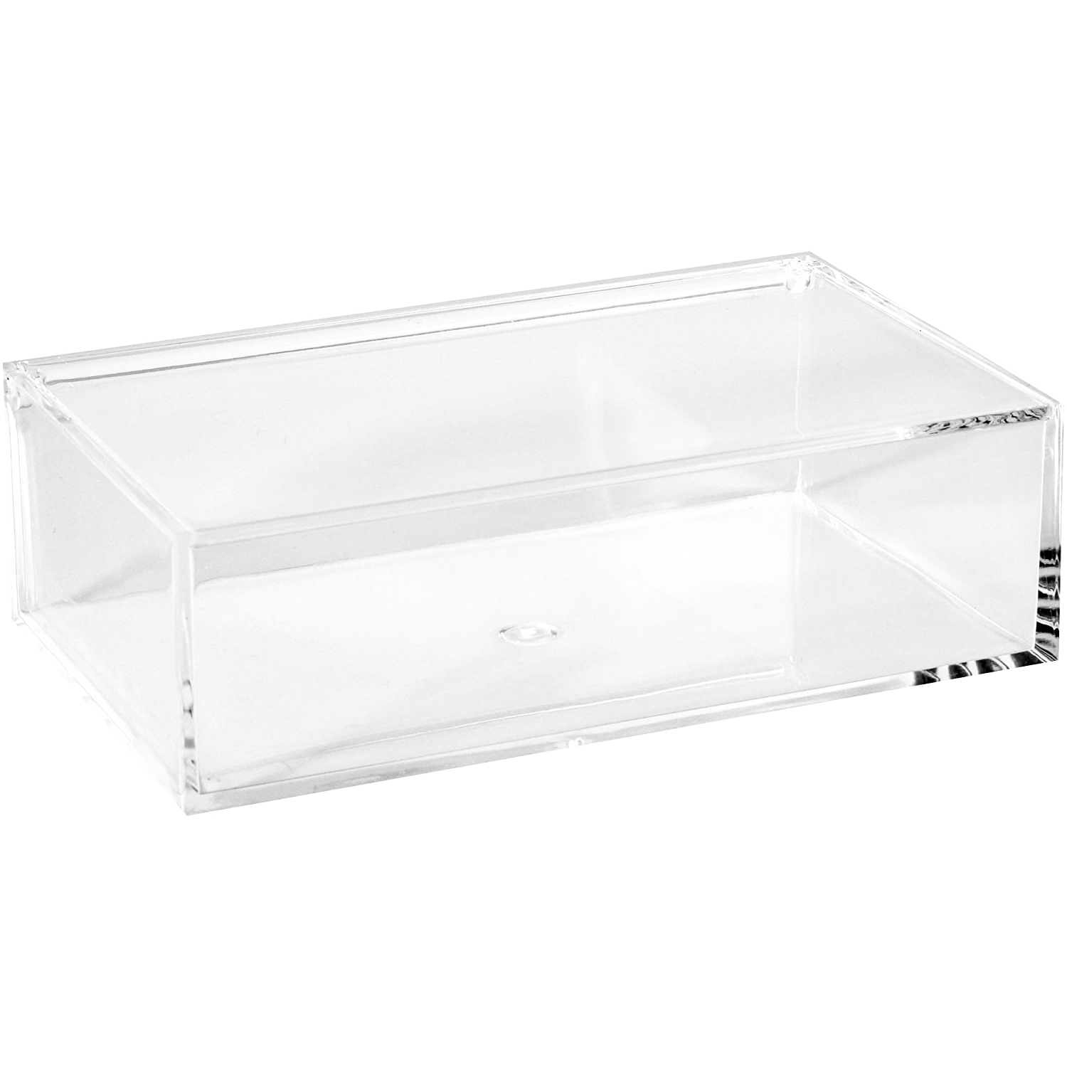 Clear Lucite Rectangular Storage Box