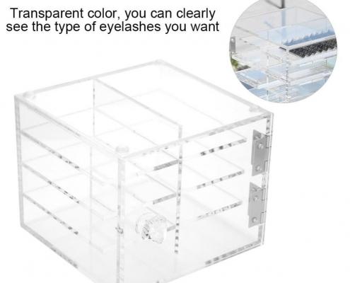 Clear Acrylic Eyelash Display Case - 4 Layer-3