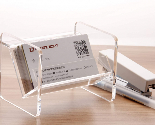 Tabletop Acrylic Business Card Display Holde-4