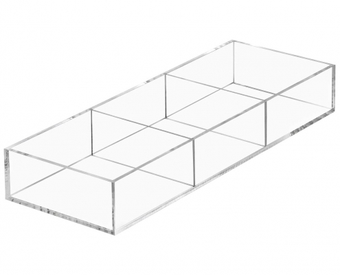 Clear Acrylic Desk Drawer Holder With Removable Plates