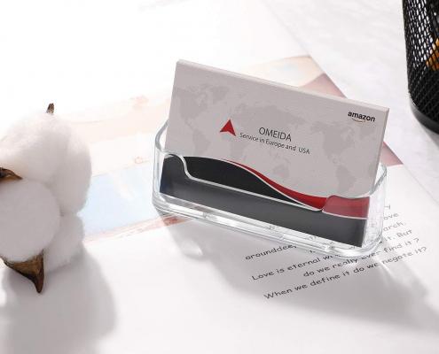 Acrylic Name Card Organizer For Desk-2