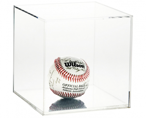 Small Acrylic Cube Softball Display Case - 12 x 12 x 12 cm-2