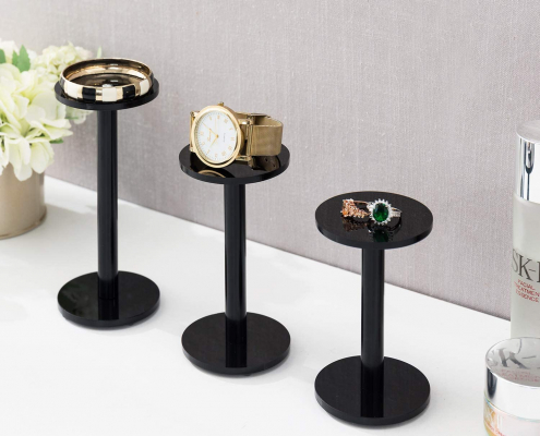 Acrylic Jewelry & Watch Display Pedestal Stands-2
