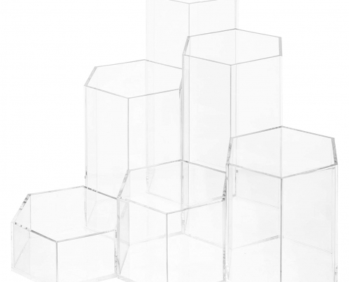 Acrylic Hexagon Jewelry & Accessories Display Riser