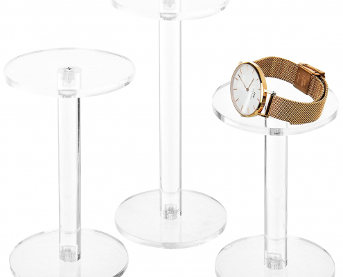 Acrylic Jewelry & Watch Display Pedestal Stands
