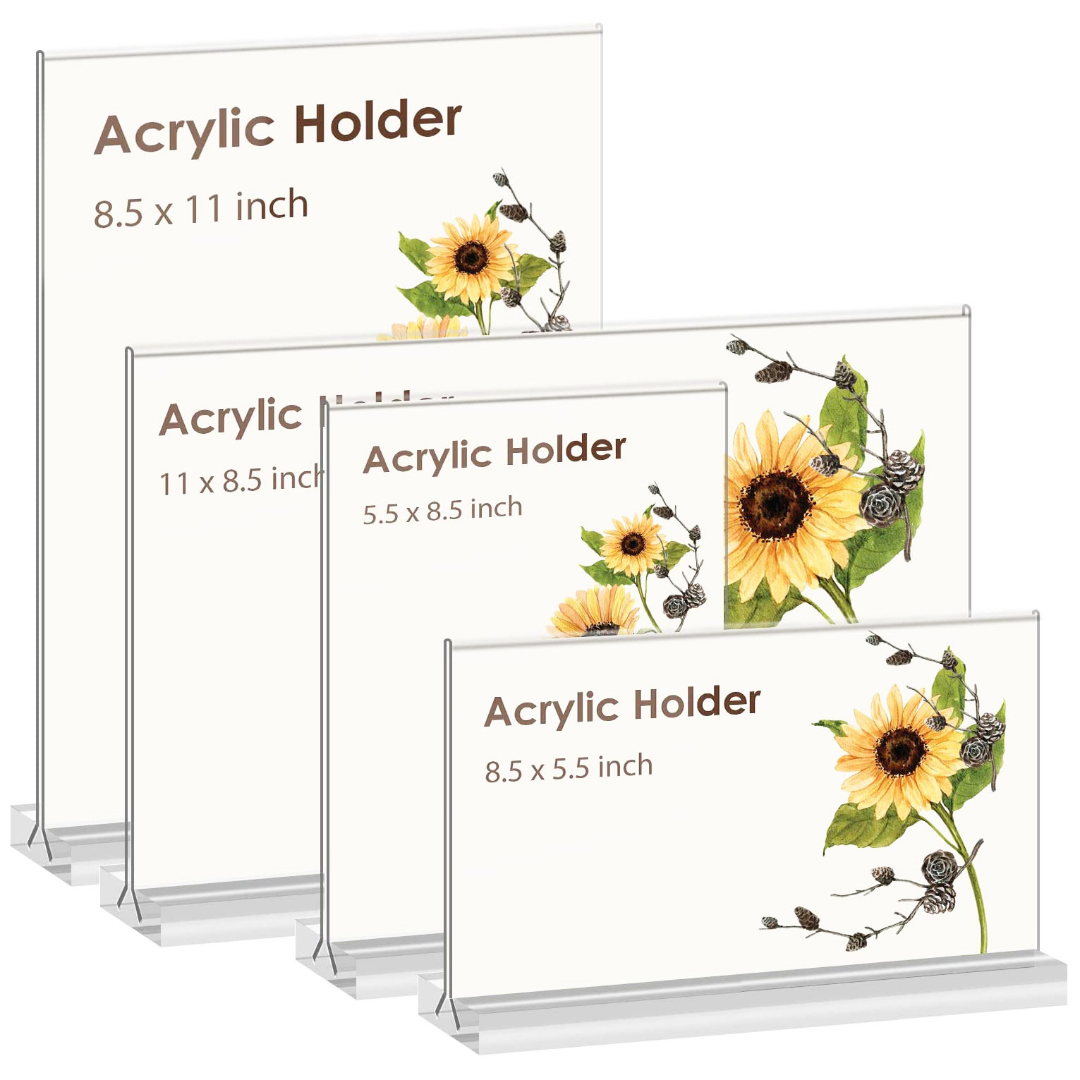 Double-Sided Acrylic Sign Holder For Stores