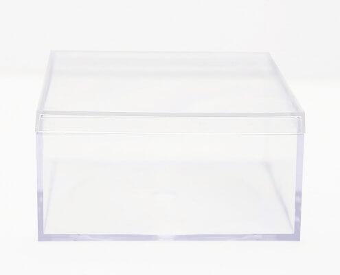 "Small Acrylic Cube Box Whit Lid - 4"" x 4"" x 2""-2"