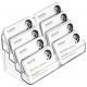 Acrylic Business Card Holders With Multiple Pockets