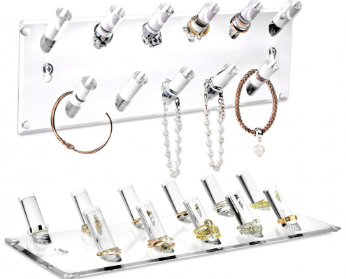 Acrylic Wall Mounted Bracelets & Rings Display Rack-2