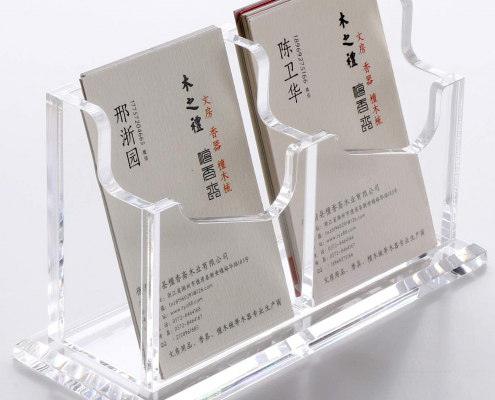 Acrylic Business Card Holder With Base-5