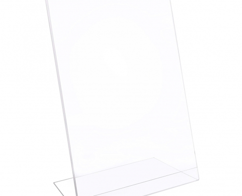 Acrylic Slant Back Sign Holder For Tabletop-4