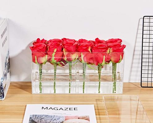 Acrylic Square Flower Vase Case-1