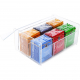 Clear Transparent Lucite Tea Bag Storage Box - 6 Compartments