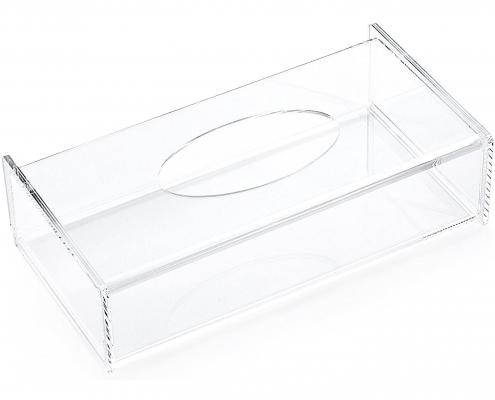 Acrylic Facial Tissue Dispenser Box - 10 × 2.4 × 4.9 inch