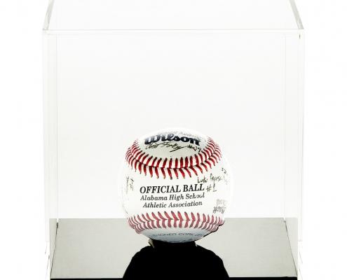 Small Acrylic Cube Softball Display Case - 12 x 12 x 12 cm-1