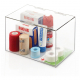 "Acrylic Storage Container Box with Lid - 11"" × 7"" × 6.5"""